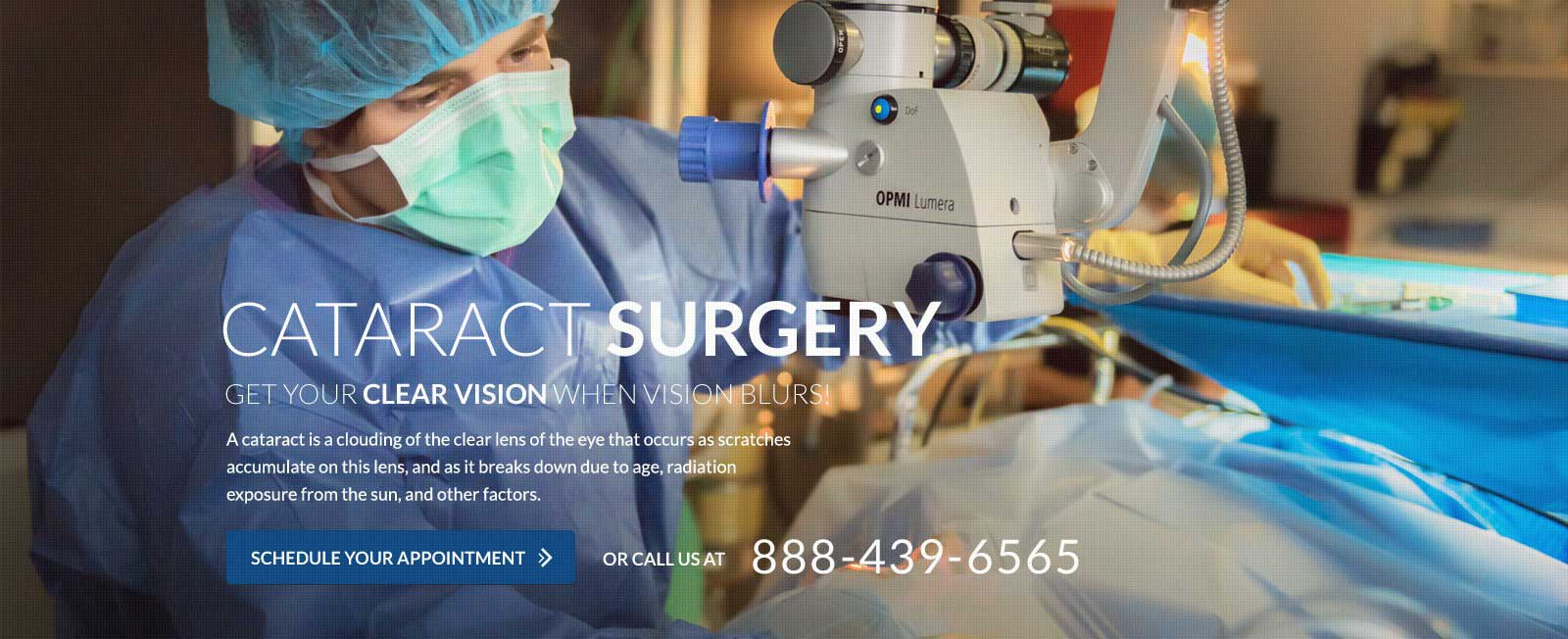 Orange County Cataract surgery in progress